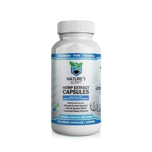 Nature's Script Hemp Extract CBD Capsules Product Review