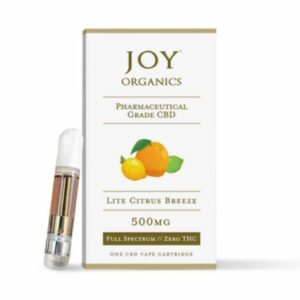 Joy Organics CBD Vape Oil Cartridge Lite Citrus Breeze Product Review