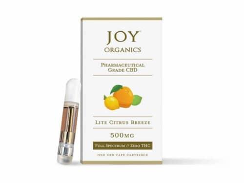 Joy Organics CBD Vape Oil Cartridge Lite Citrus Breeze Product Review