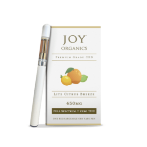 Joy Organics CBD Vape Oil Pen + Cartridge Product Review