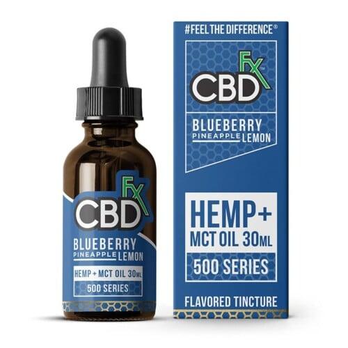 cbdfx cbd hemp oil flavored Tincture blueberry pineapple lemon