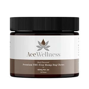 Ace Wellness cbd dog treats beef