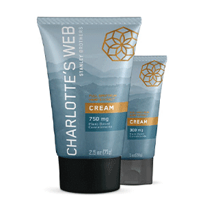 Charlottes Web hemp infused cream with cbd