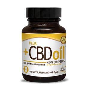 Plus CBDoil cbd soft gel capsules gold formula