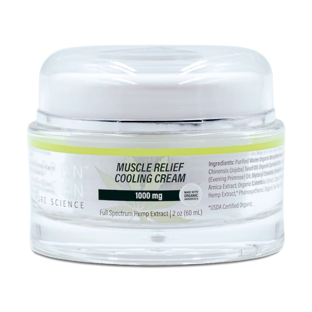 Aspen Green Muscle Relief Cooling Cream, Best CBD Cooling Topical
