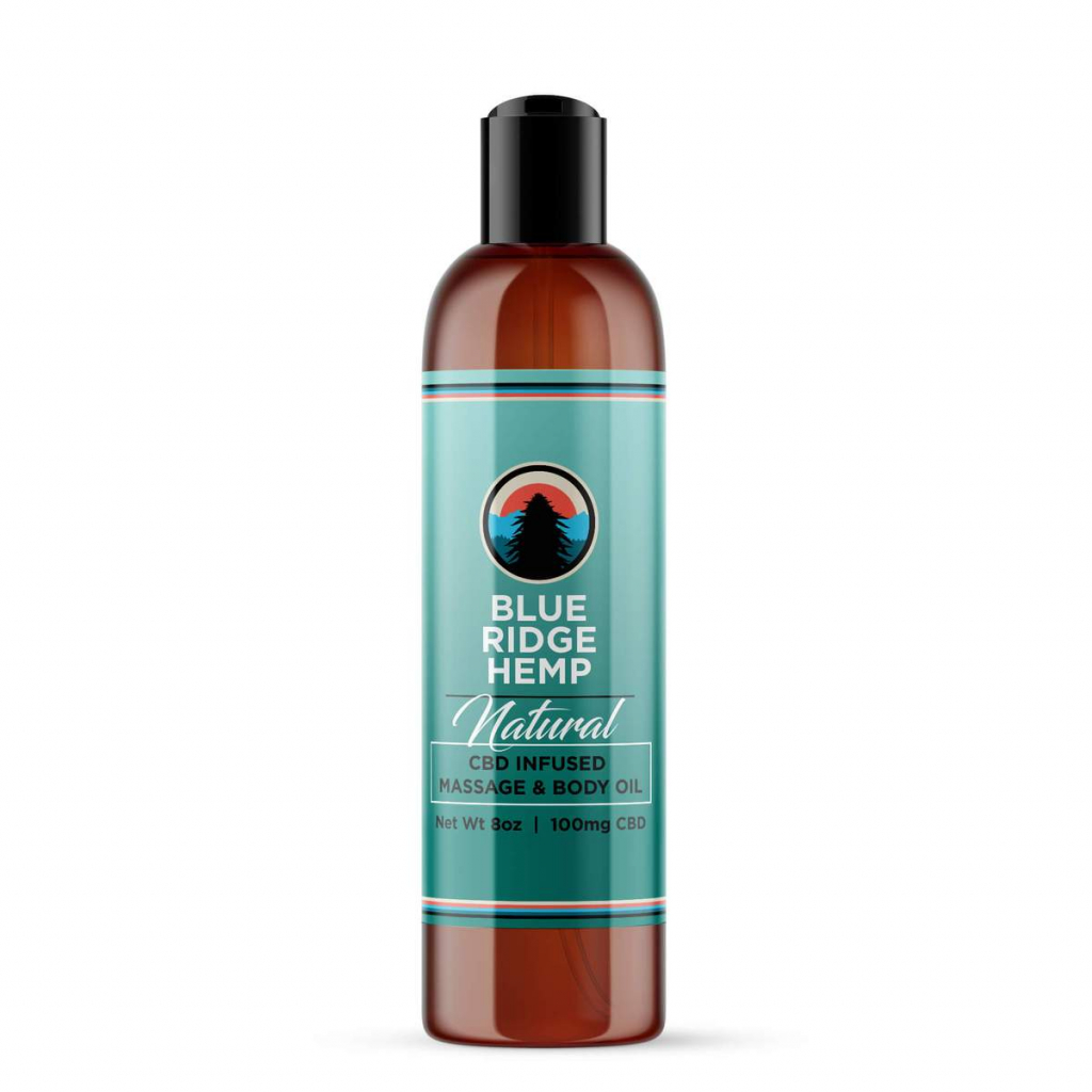 Blue Ridge Hemp CBD Massage Oil
