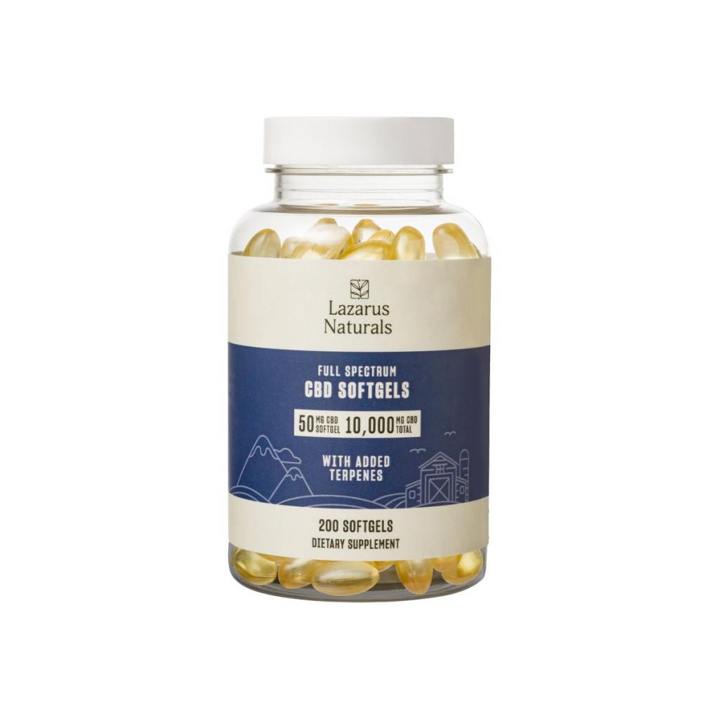 Best CBD Pills, Softgels, and Capsules - Lazarus Naturals