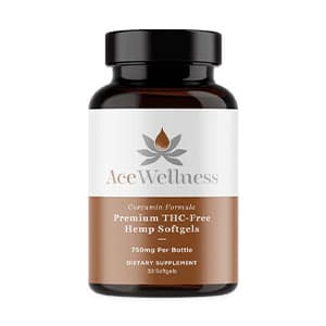 Ace Wellness hemp cbd curcumin softgels