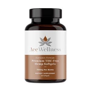 Ace Wellness hemp cbd curcumin softgels