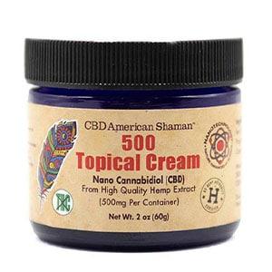 American Shaman cbd 500 topical cream thc free