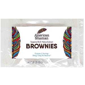 American Shaman cbd brownies