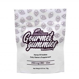 American Shaman cbd gourmet gummies thc free