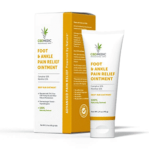 Charlottes Web cbd foot ankle pain relief ointment