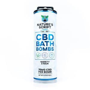 Natures Script cbd bath bomb