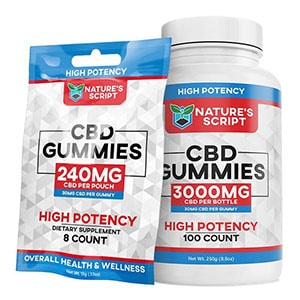 Natures Script cbd gummies high potency