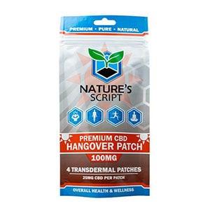 Natures Script cbd hangover patches