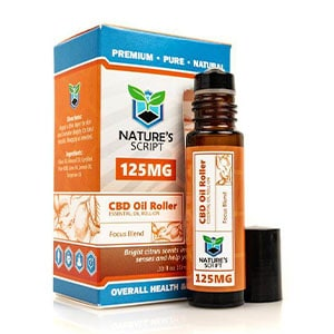 Natures Script cbd oil roll on focus