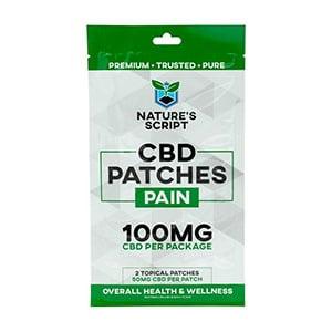 Natures Script cbd pain patches