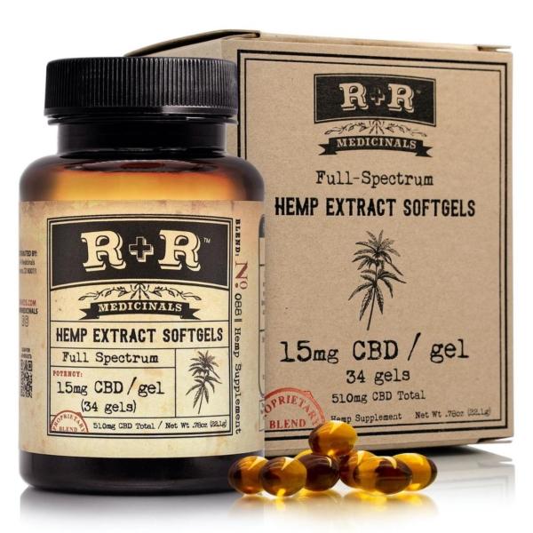 R+R Medicinals Full-Spectrum Softgels 15mg