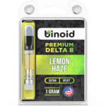 Binoid Delta 8 THC Vape Product Review, Grand Daddy Purp, Blue Dream, Lemon Haze
