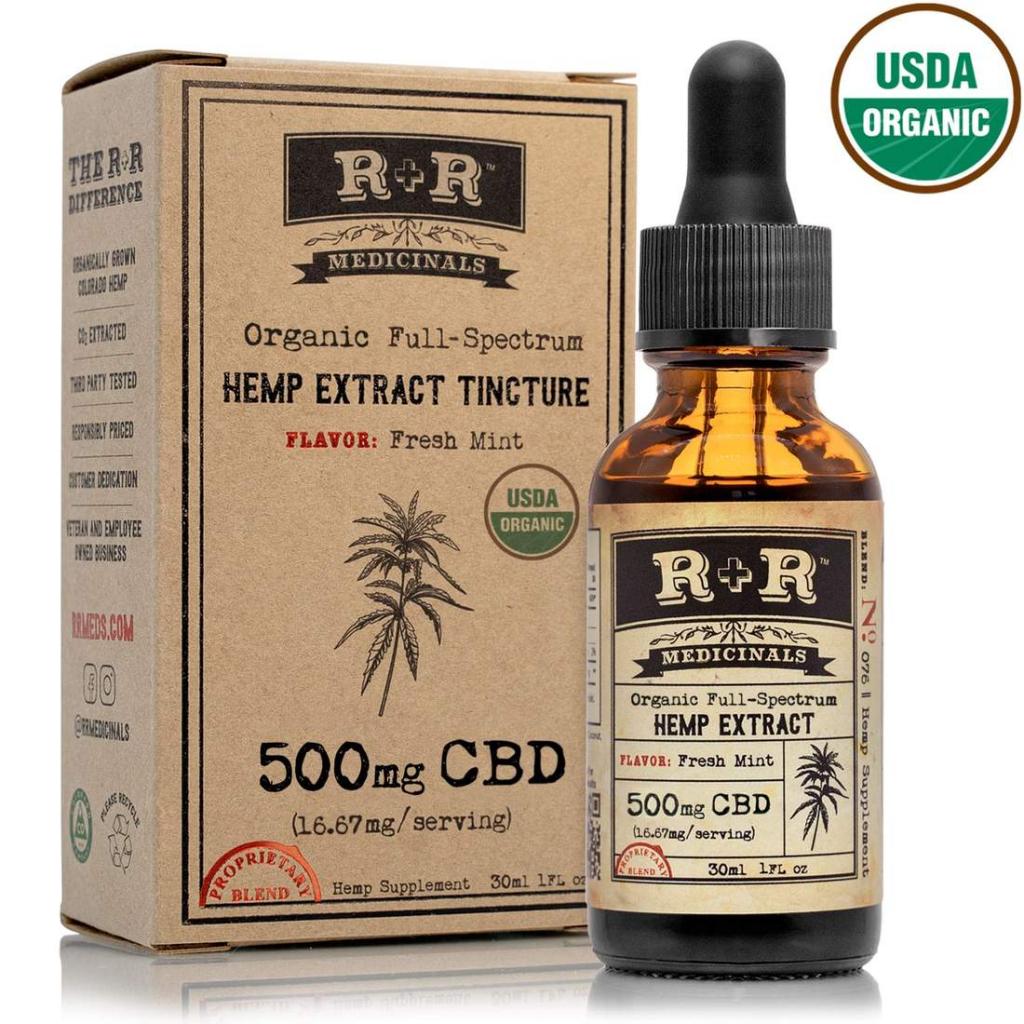 R+R Medicinals Fresh-Mint CBD oil tincture